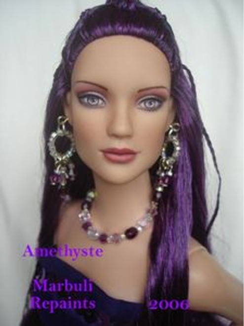 Plum Crazy 33 KatSilk Saran Doll Hair