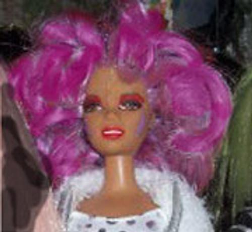 Purple Haze 59 KatSilk Saran Doll Hair