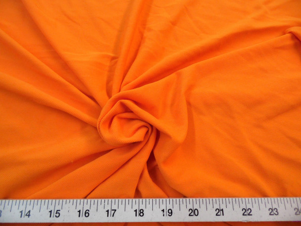 Discount Fabric Dryline lycra spandex wicking performance Stretch Orange DT13