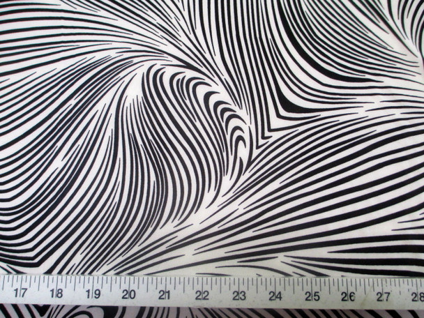 Discount Fabric Printed Jersey Knit ITY Stretch Abstract Zebra Black White F201