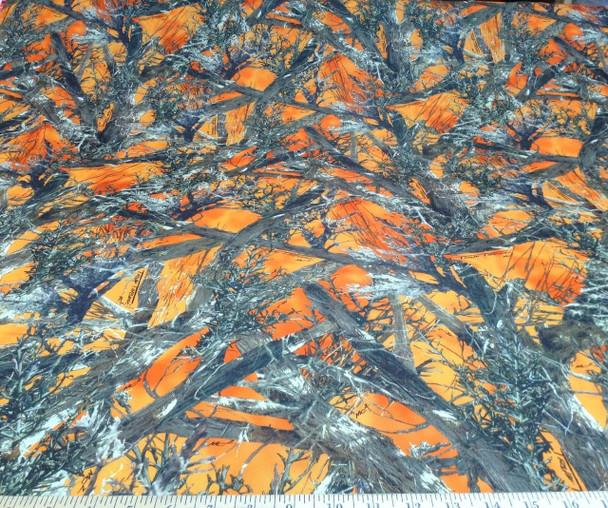 Discount Fabric True Timber 4 way Stretch MC2 Blaze Orange Camouflage  CA07