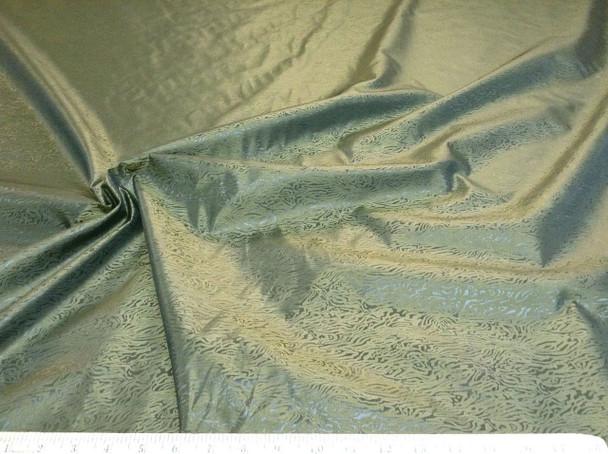 Discount Fabric IRIDESCENT Taffeta Olive warping to gold #IRT001