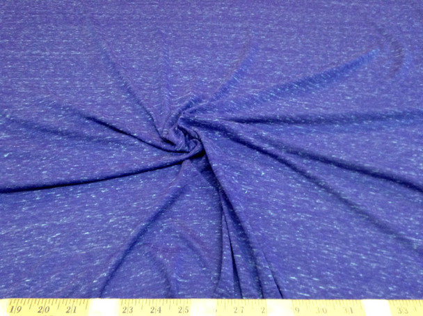Discount Fabric Brushed Spandex 4 way stretch Heather Periwinkle LY602