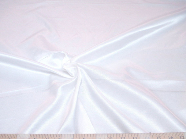 Discount Fabric Antique Satin Upholstery Drapery White SA202