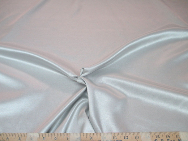 Discount Fabric Antique Satin Upholstery Drapery Silver SA203