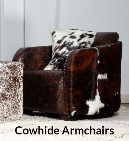 Cowhide Armchairs