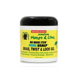 Jamaican Mango & Lime No More Itch Cool Scalp Braid, Twist & Lock Gel 6 oz
