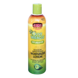 African Pride Olive Miracle Anti-Breakage Maximum Strenghtening Moisturizing Lotion 12 0z