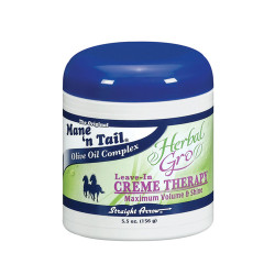Mane 'n Tail Herbal Gro Leave-In Creme Therapy Maximum Volume & Shine 5.5 oz
