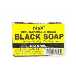 TAHA 100% Natural African Black Soap 5 oz