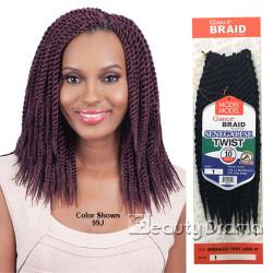 "MODEL MODEL Glance Braid Senegalese Twist 10"""