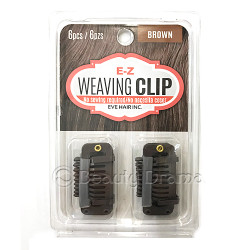 EZ Weaving Clip No Sewing Required 6 PCS Brown