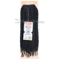 "MODEL MODEL Glance Crochet Braid Large Box Braid 14"""