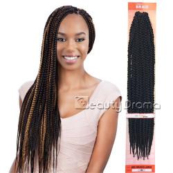 "MODEL MODEL Glance Crochet Braid Large Box Braid 18"""