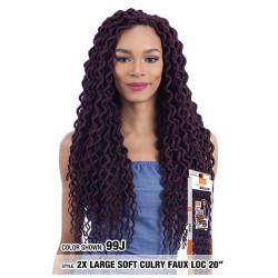 "MODEL MODEL Glance Crochet Braid 2X Soft Large Curly Faux Loc 20"""