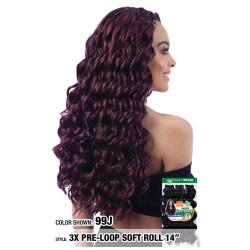 "MODEL MODEL Glance Crochet Pre-Loop Braid 3X Soft Roll 14"""