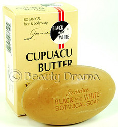 Black and White Botanical Face & Body Cupuacu Butter Soap 6.1 oz