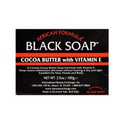African Formula Black Soap with Cocoa Butter & Vitamin E 3.5 oz