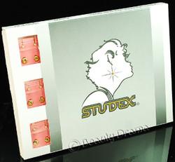 Studex Ear Piercing Gold Plated Diamond Stone MINI Studs 12 pack M204Y