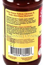 Groganics Deep Freeze Follicle Cleanser & Scalp Absorbent Shampoo 8 oz