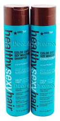Healthy Sexy Hair Color Safe Soy Moisturizing Shampoo & Conditioner Set