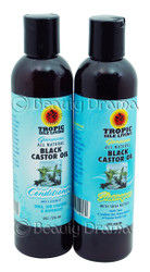 Tropic Isle Living Natural Black Castor Oil Shampoo & Conditioner Set