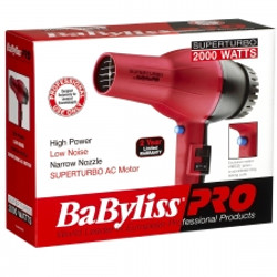 BaByliss PRO SuperTurbo 2000 Watts Hair Blow Dryer AC Motor