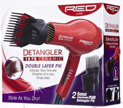 Red 1875 Ceramic Detangler Blow Dryer