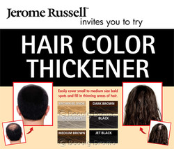 Jerome Russell Spray on Hair Color Thickener 3.5 oz - MEDIUM BROWN