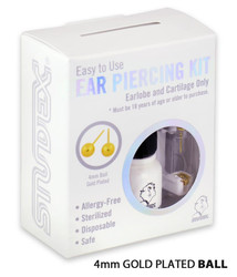 Studex Personal Ear Piercing Kit with 4MM Gold Plated Earrings