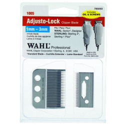 WAHL Standard Replacement 3 Hole Adjusto-Lock Clipper Blade Set CL-1026-001