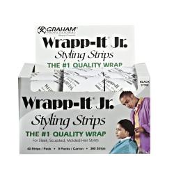 GRAHAM Wrap-It Jr. Styling Strips (Black) 9 Packs of 40 Strips