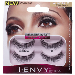 8806e2f9bc6 Kiss i ENVY Double Pack 100% Human Hair Eyelashes Au Natural, KPED08