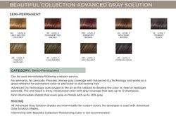 Clairol Beautiful Collection Semi-Permanent Hair Color Advanced Gray Solution