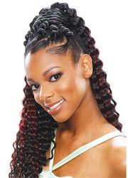 MODEL MODEL Glance Braid Soft Deep Curl Synthetic Crochet Braiding Hair 20""