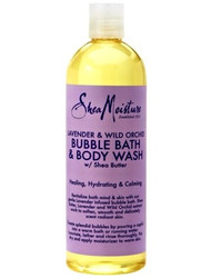 Shea Moisture Lavender & Wild Orchid Bubble Bath & Body Wash 16 oz
