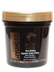 African Essence Non-Flaking Superior Hold & Shine, Non-Alcohol Dark