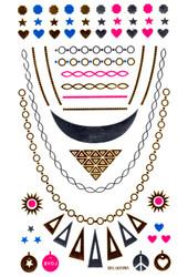 Metallic Body Flash Temporary Tattoo Jewelry