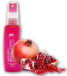 ON Natural Braid & Twsit Sheen Spray Pomegranate & Keratin 2 oz