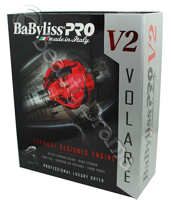 BaByliss PRO Nano Titanium Volare® V2 Mid-Size Hair Blow Dryer Black