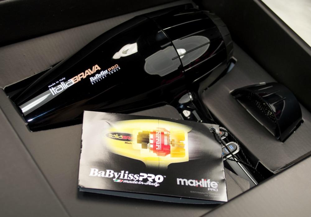 BaByliss PRO Italia BRAVA Luxury 2000 Watts Blow Dryer BLACK