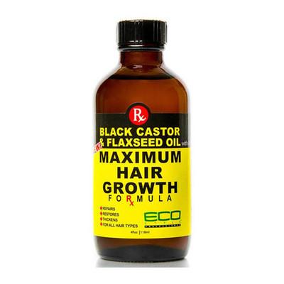Eco Black Castor Oil Amp Flaxseed Oil Maximum Hair Growth 2 Oz