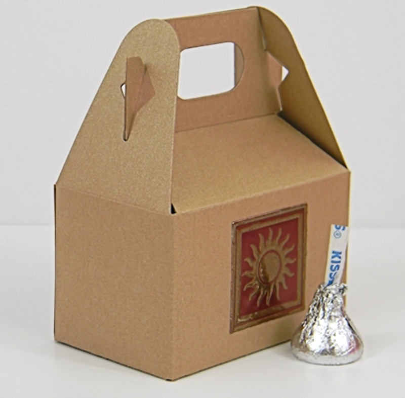 Mini Gable Box shown in Recycled Brown. Foil Seal not included.