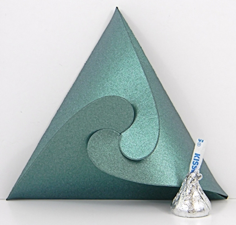 Triangle Box shown in Shimmering Green.