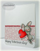 Valentine Bunny with Sentiment Digital Stamp