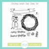 Christmas Wreath Clear Stamp Set