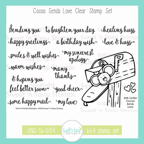 Cocoa Sends Love Clear Stamp Set