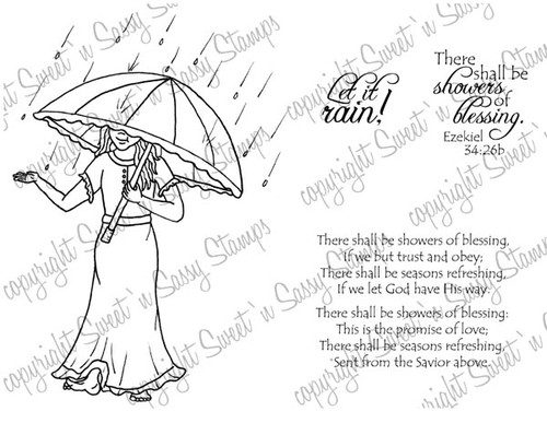 Let it Rain Digital Stamp