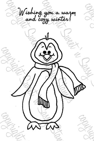 Stanley Penguin Digital Stamp