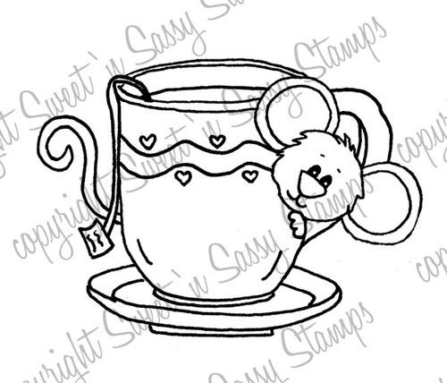 Teacup Cocoa Digital Stamp